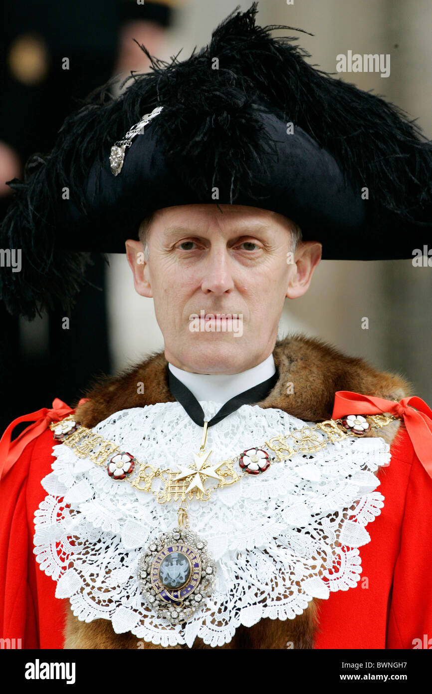 Lord Mayor of the City of London, Michael Berry Savory,  at service to mark the 200th Anniversary of Nelson's - Stock Image
