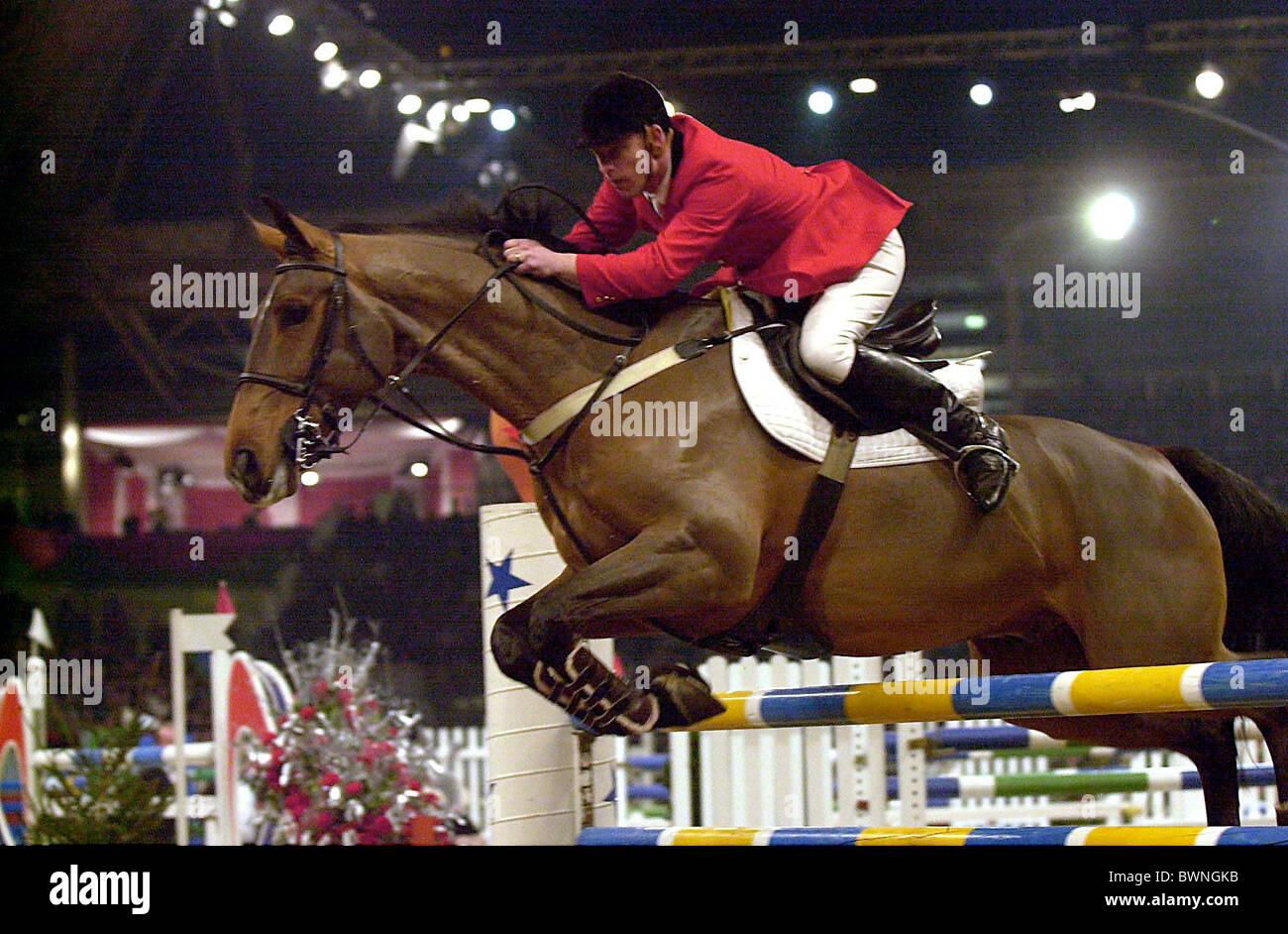 THE INTERNATIONAL SHOWJUMPING CHAMPIONSHIPS AT OLYMPIA, LONDON. - Stock Image