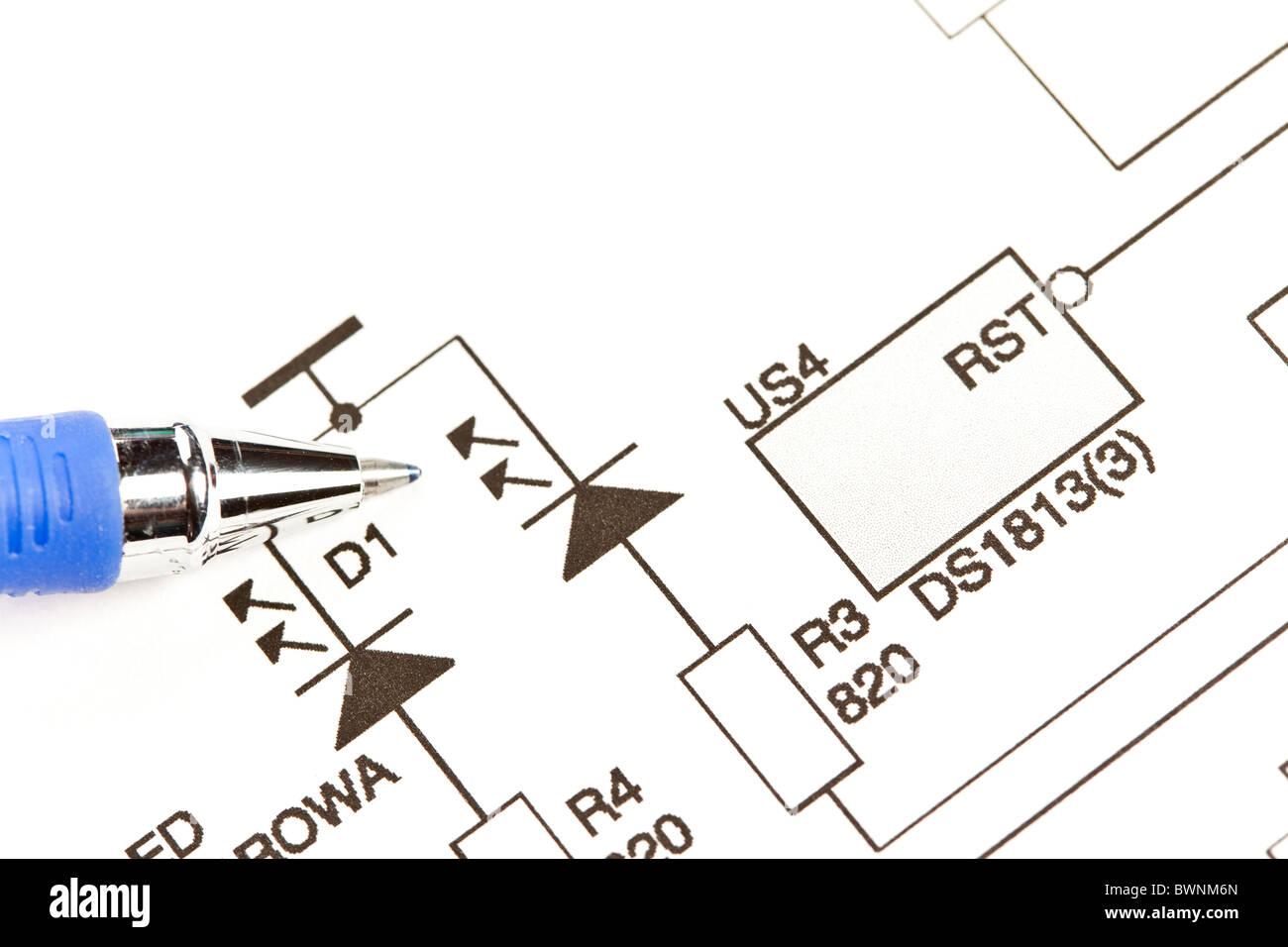 electrical circuit diagram stock photos \u0026 electrical circuit diagram