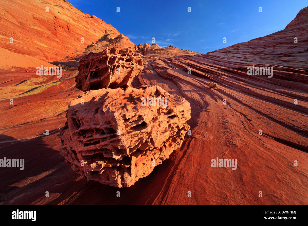 Rock formations in the 'Bone Yard' area of Vermilion Cliffs National Monument, Arizona - Stock Image