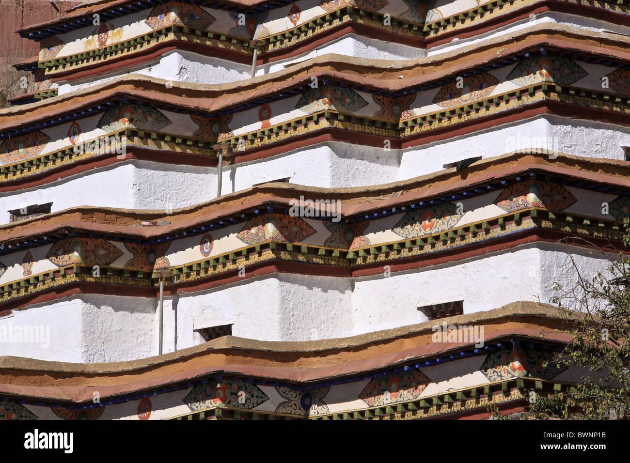 Kumbum Stupa in Gyantse Tibet - Stock Image