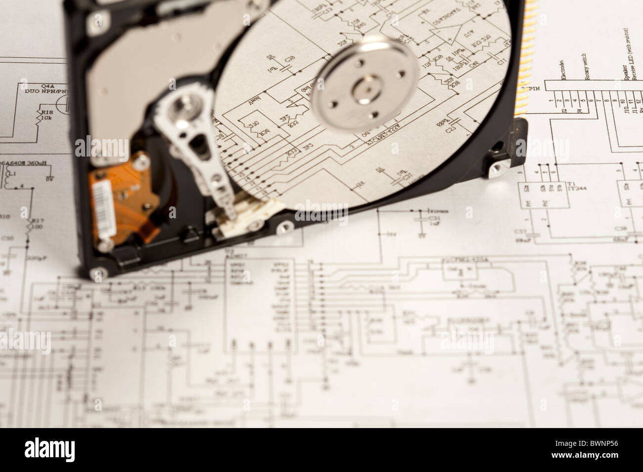 Fabulous Electronic Components On A Schematic Diagram Background Stock Photo Wiring 101 Orsalhahutechinfo