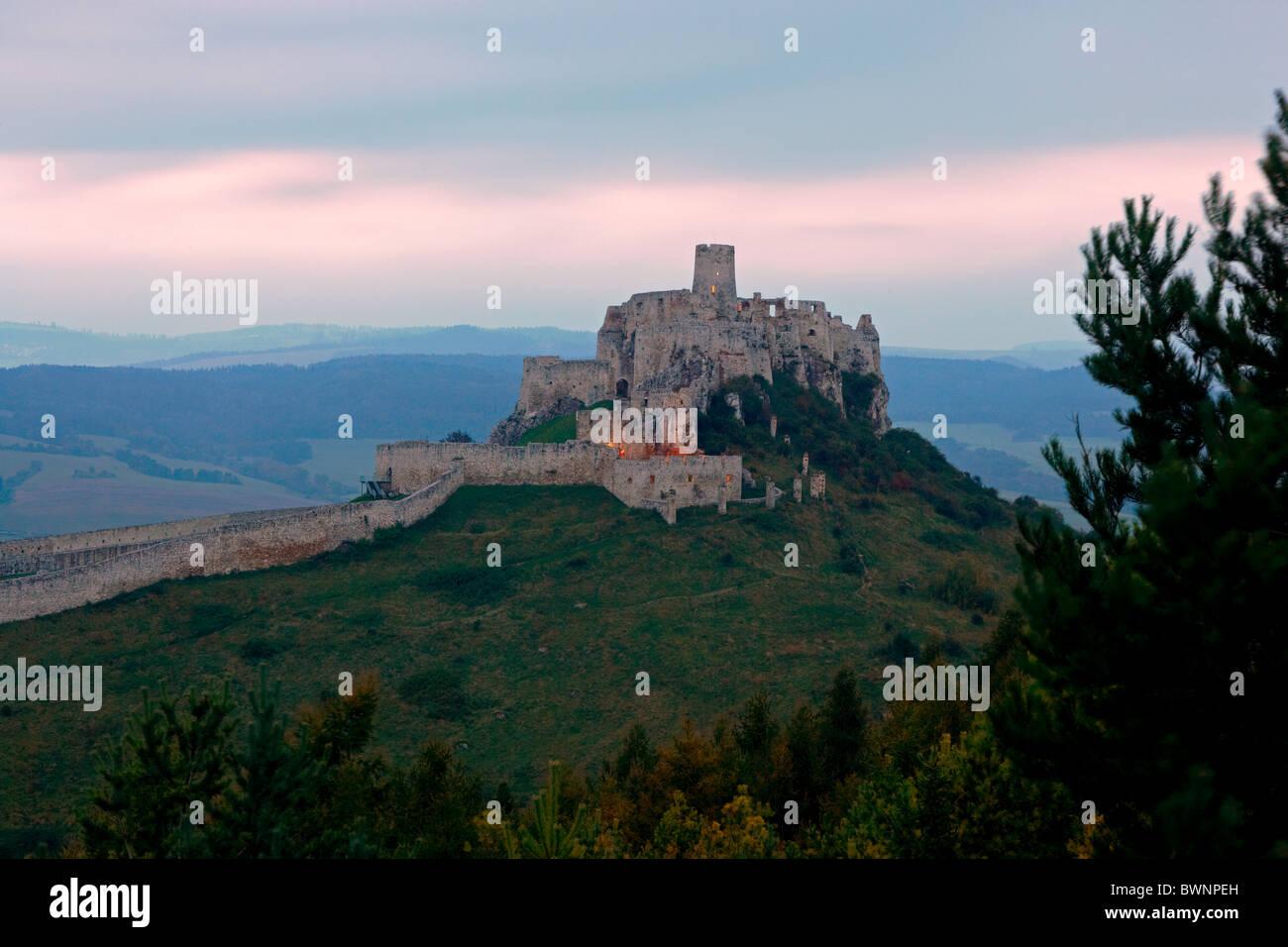 Spissky Hrad Castle Slovakia - Stock Image