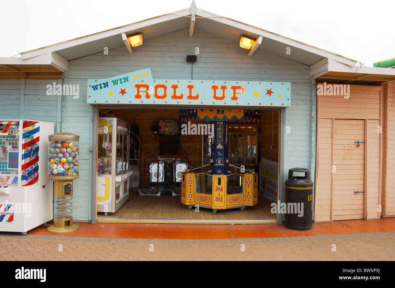 Amusement Arcade at Clacton on Sea - Stock Image