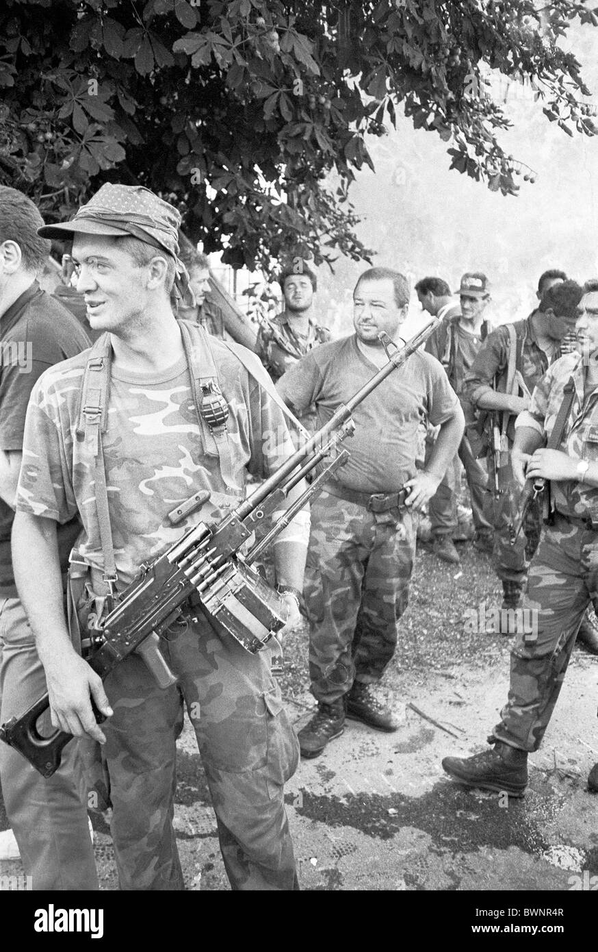 War in Croatia - Croatian army forces in operation Storm Oluja August 1995 - Stock Image
