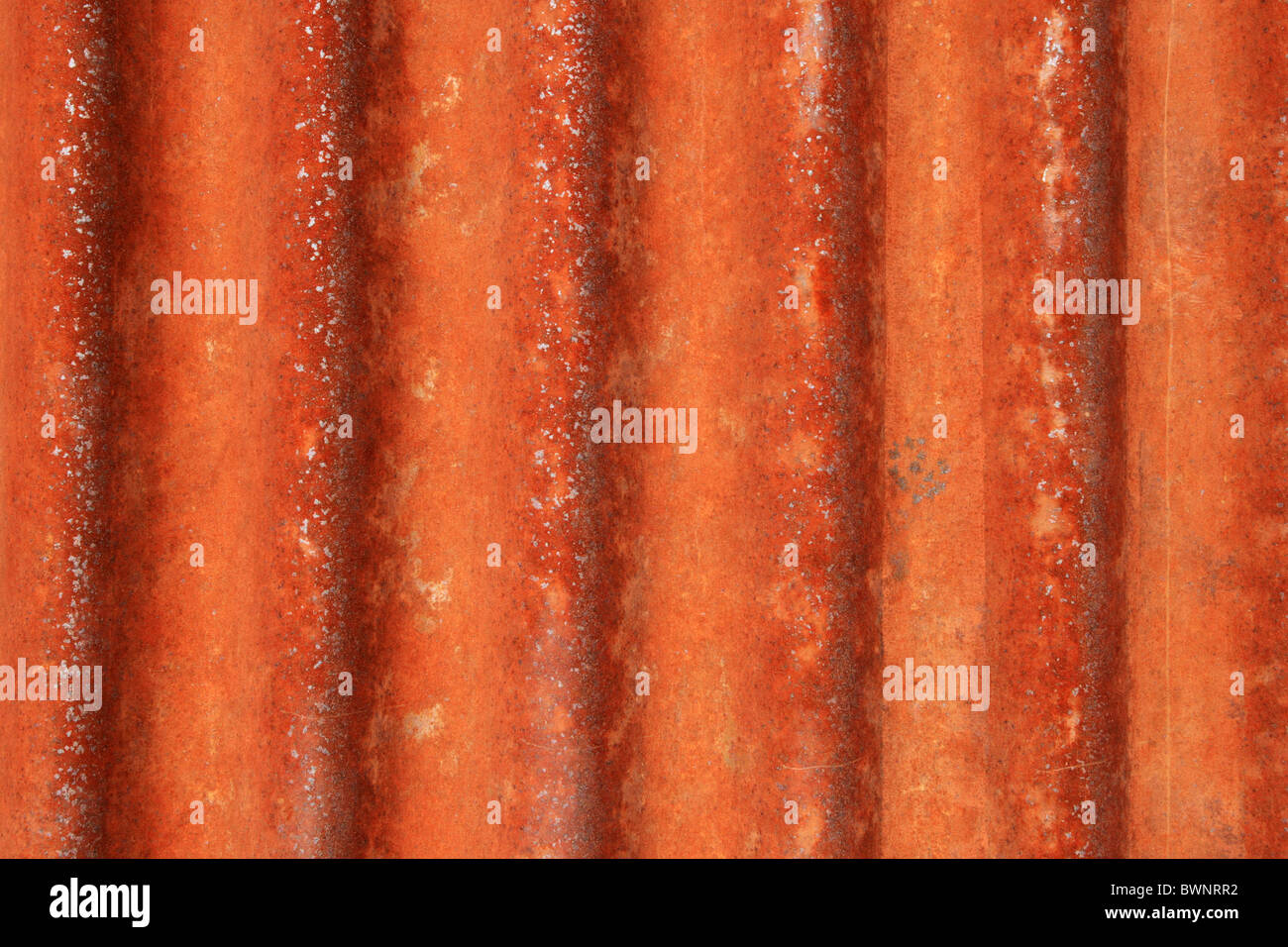 rusted grunge corrugated metal background texture - Stock Image