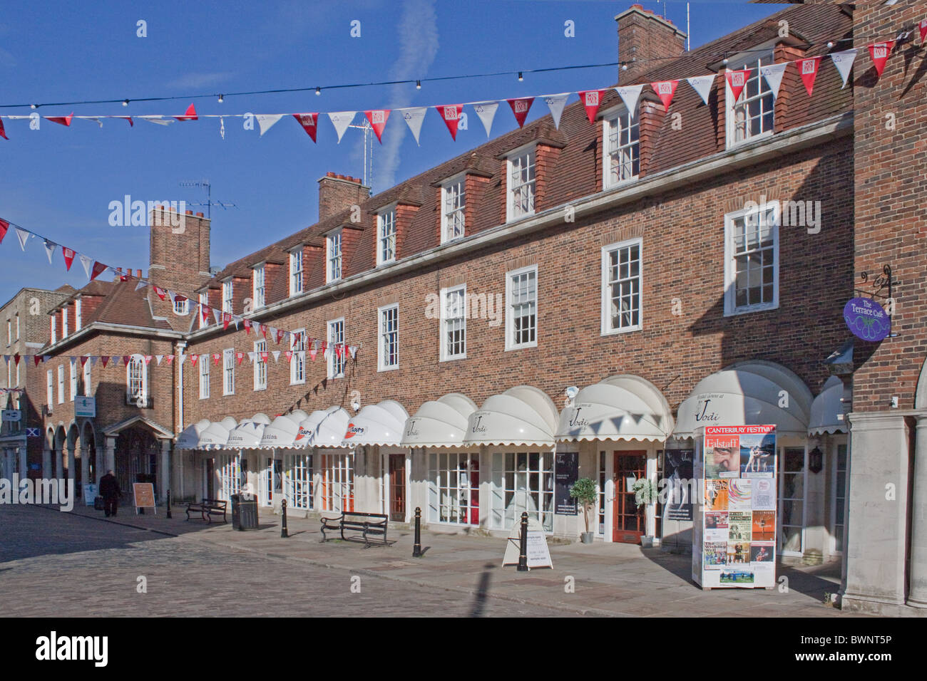 A row of shops in Burgate, Canterbury, Kent - Stock Image
