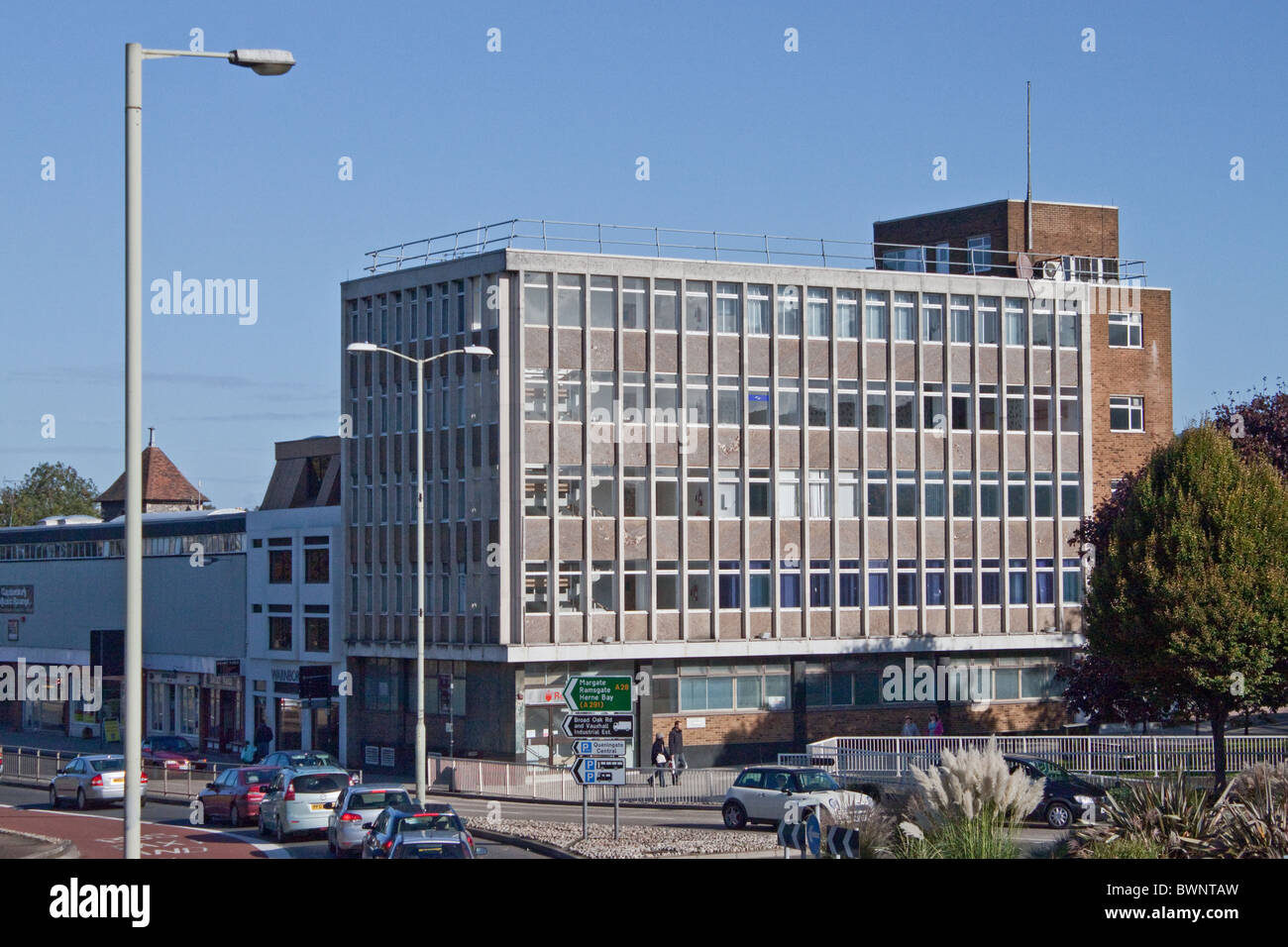 Newingate House offices Lower Bridge St, Canterbury.  Planning application by Christchurch University for student - Stock Image