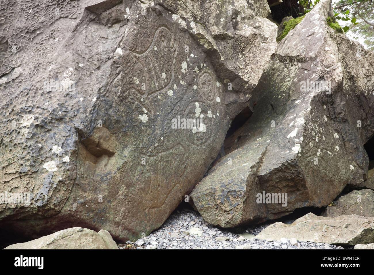 makah petroglyphs near wedding rocks ozette loop olympic national