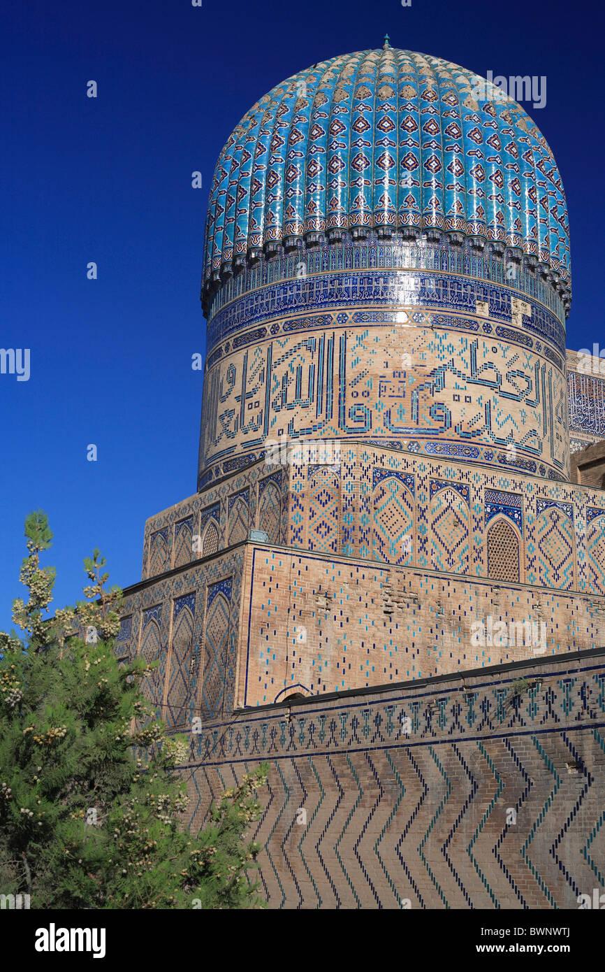 Bibi Khanym Mosque Samarkand Uzbekistan Central Asia Islam Islamic Orient Oriental Uzbek Ouzbek Architecture Stock Photo