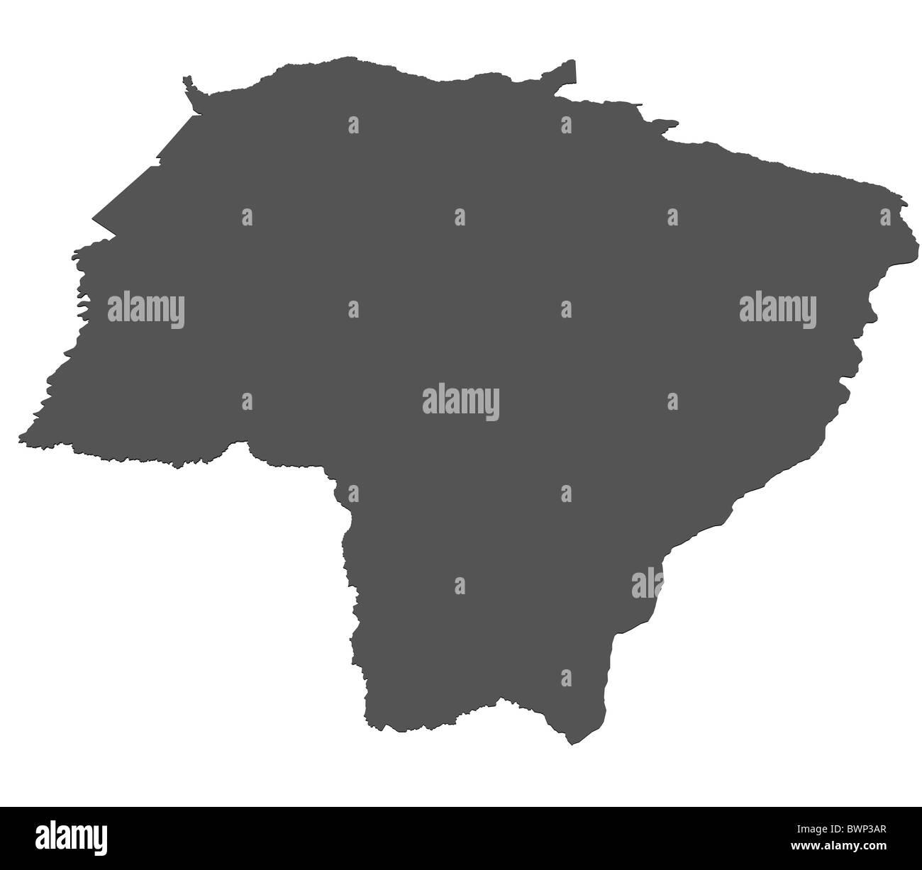 Isolated map of Mato Grosso Do Sul - Brazil Stock Photo