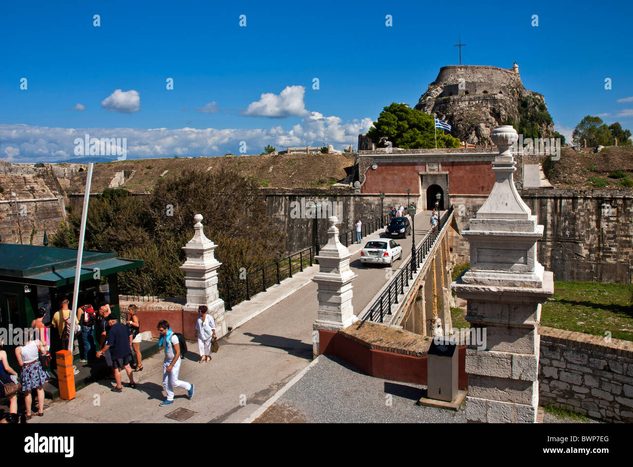 The Old Fortress in Corfu Town, Ionian Islands Greece. - Stock Image