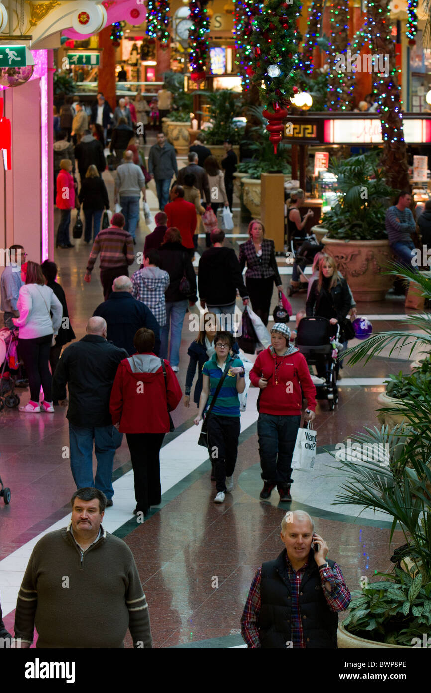 interior of the Trafford Centre Manchester England - Stock Image