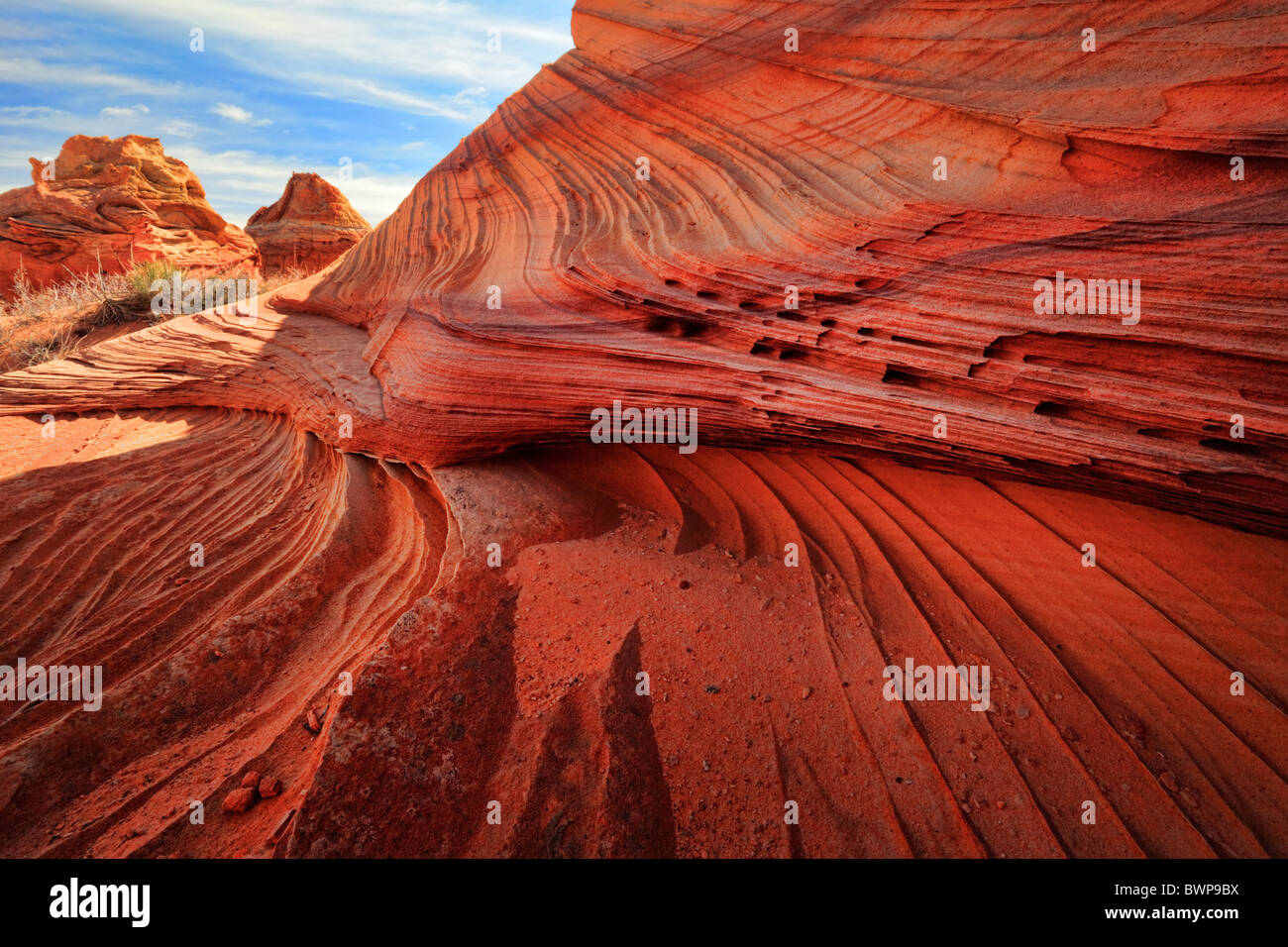 Rock formations in the Vermilion Cliffs National Monument, Arizona - Stock Image