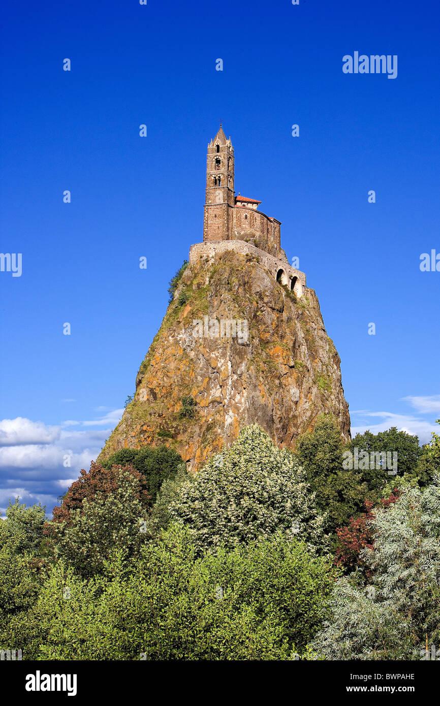France Europe Le Puy-en-Velay city town Region Auvergne Departement Haute-Loire July 2007 Europe volcanic pea - Stock Image