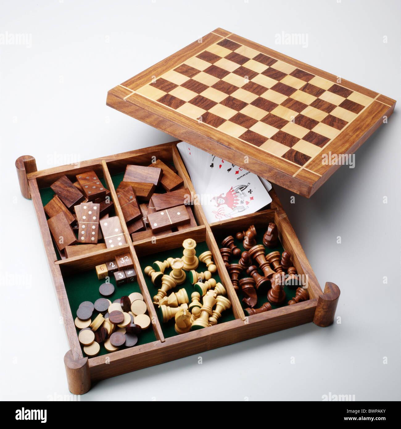 Games compendium - Stock Image