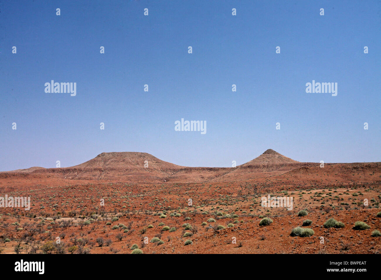 Namibia Africa Summer 2007 Africa landscape desert steppe blue sky - Stock Image