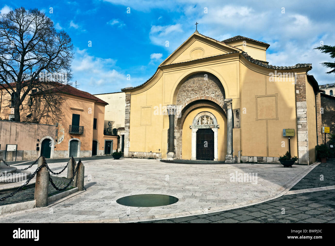 Church od Santa Sofia Benevento, Archeological Museum - Unesco official candidate Campania, Italy Stock Photo