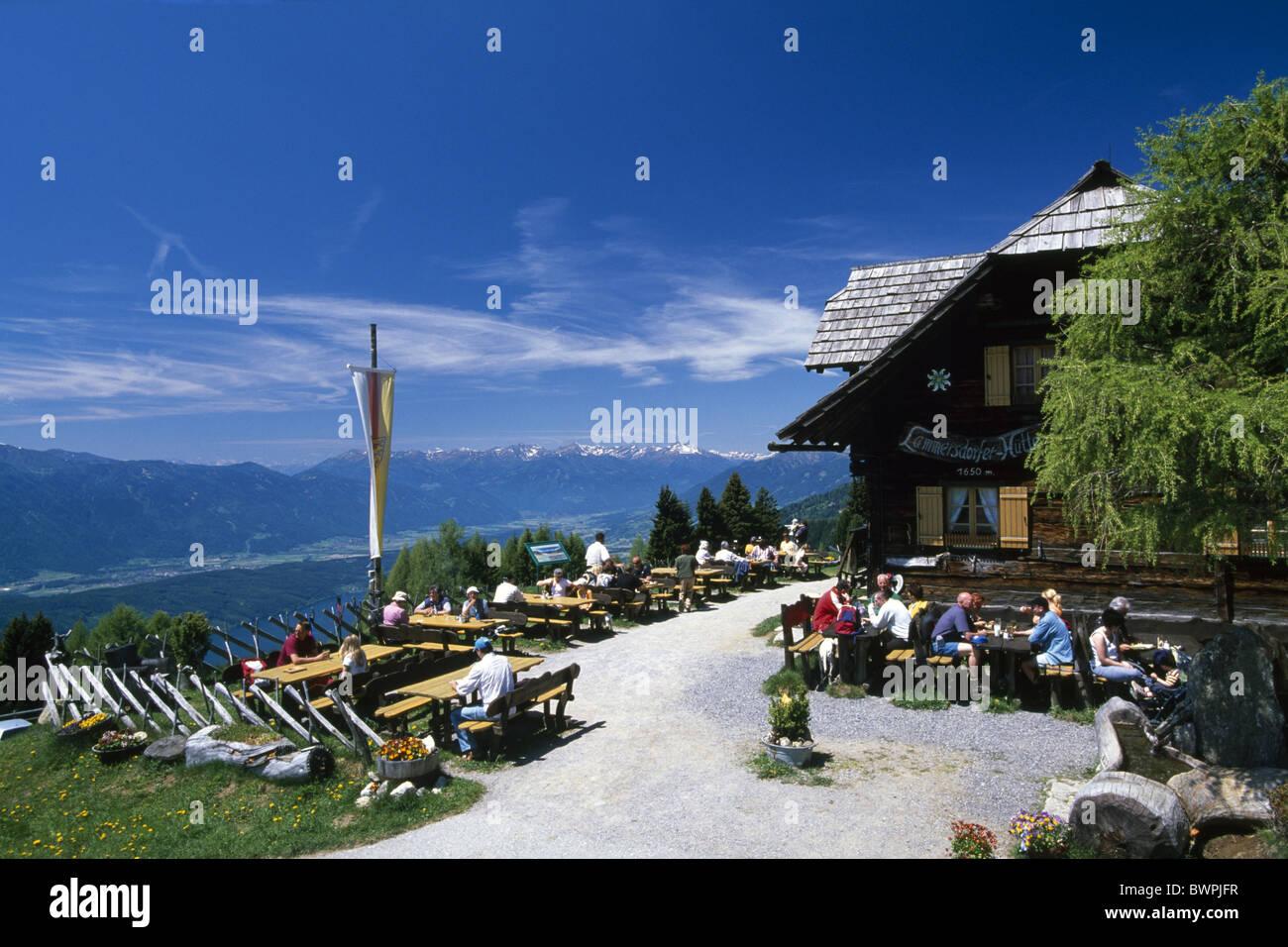 Austria Europe Millstatt Lammersdorfer Hutte Milstatter See Karnten alps State of Carintiha Europe Hutte Obe - Stock Image