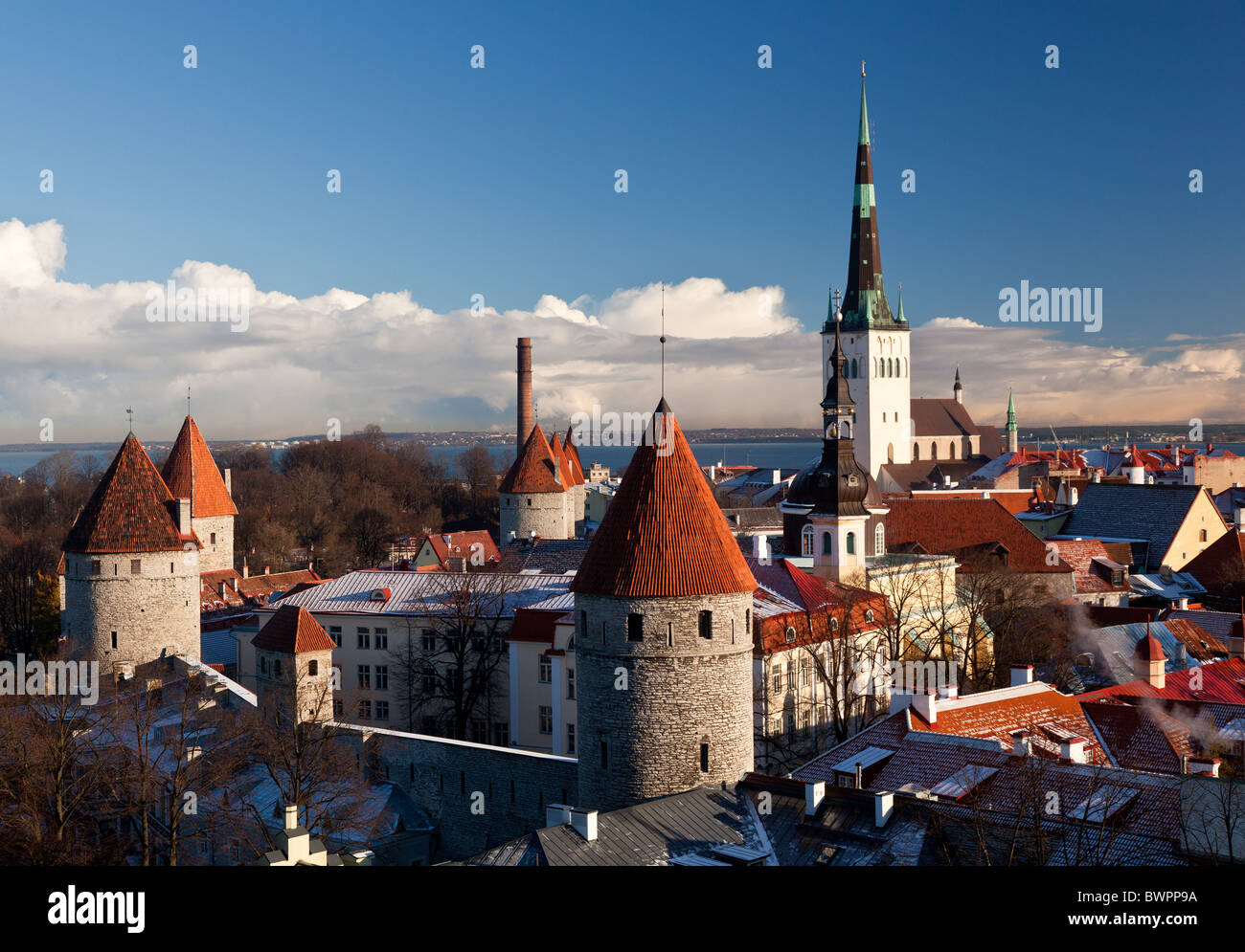 Tallinn in Estonia, Europe - Stock Image