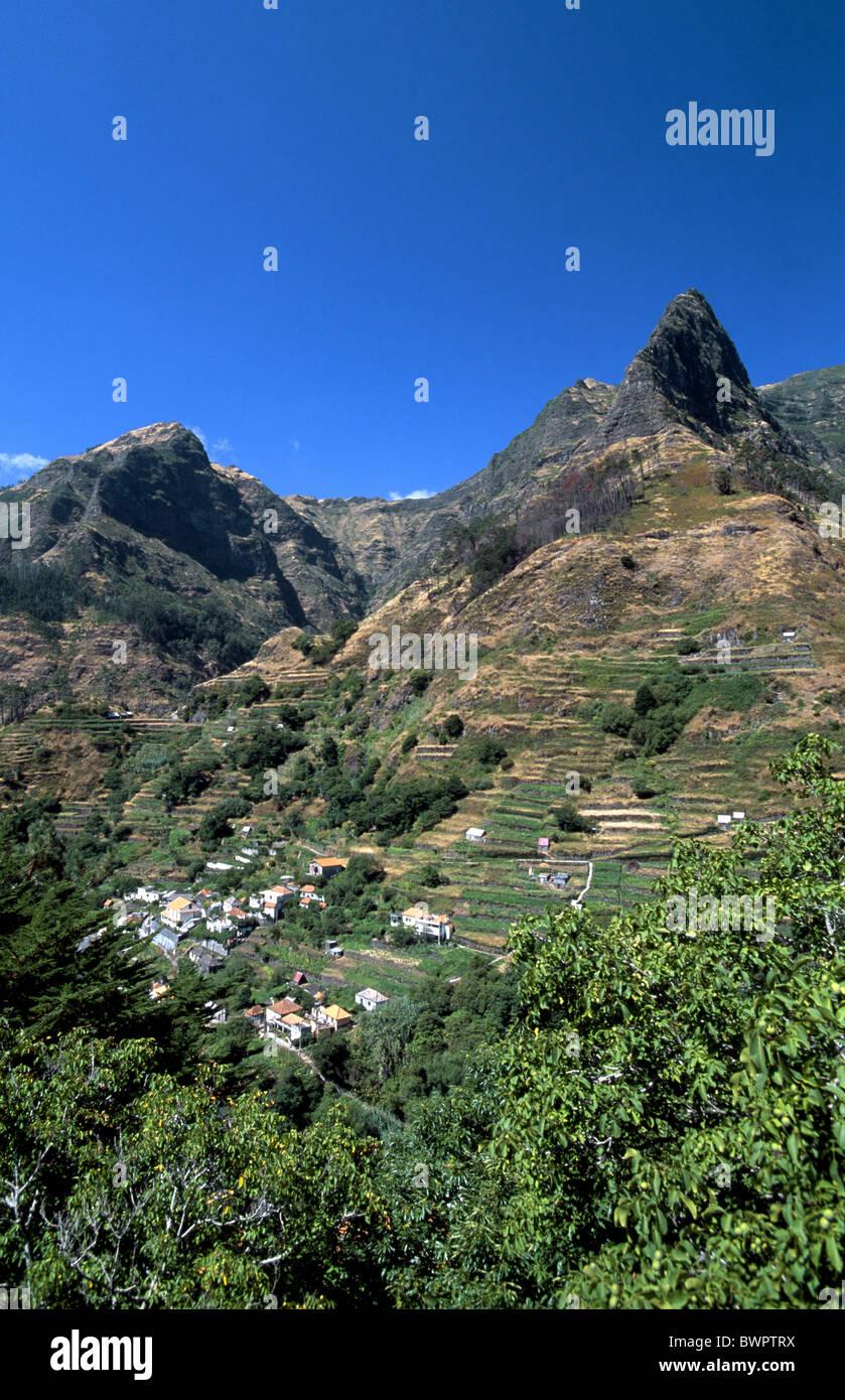 Portugal Europa Europe Madeira Serra de Agua Europe island Atlantic Ocean Pousada Dos Vinhaticos mountain mo - Stock Image