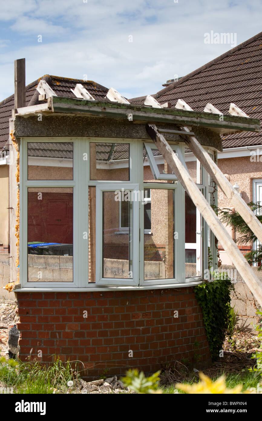 House demolition remnants Salisbury England - Stock Image