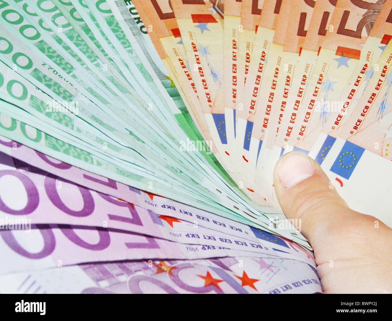 money Euro currency cash currency pocket spend captivate bribery work hard work economics conversion conve - Stock Image