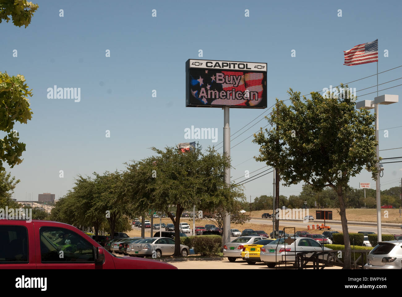Buy American Electronic Sign In Chevrolet Dealership Car Lot