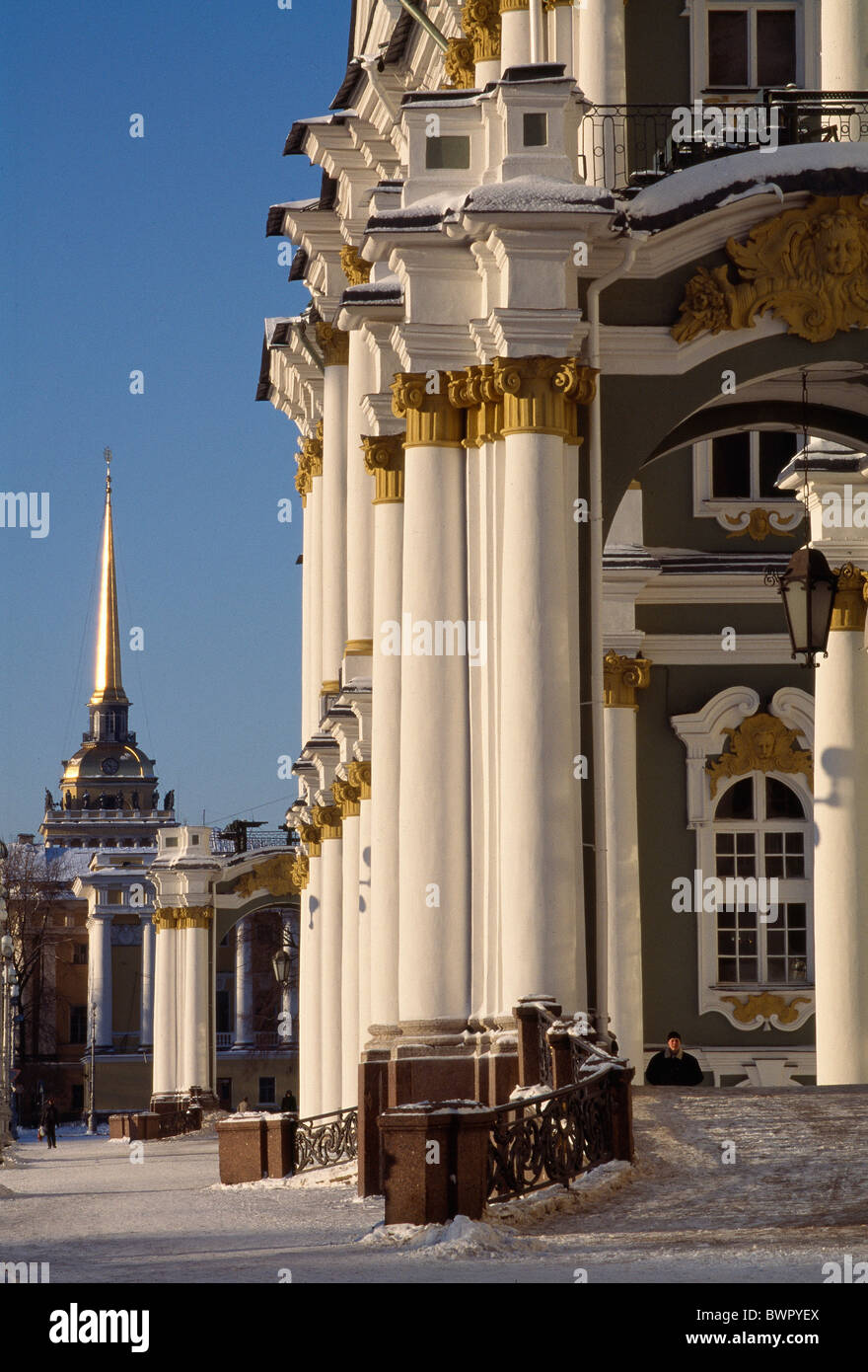 Russia Saint Petersburg Winter Palace State Hermitage Museum Art museum building architecture UNESCO World her - Stock Image