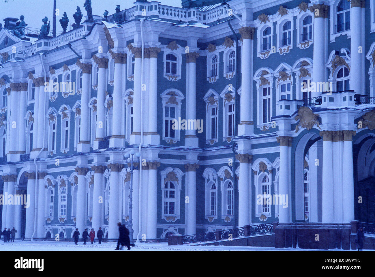 Russia Saint Petersburg Winter Palace State Hermitage Museum Art museum building architecture facade UNESCO W - Stock Image