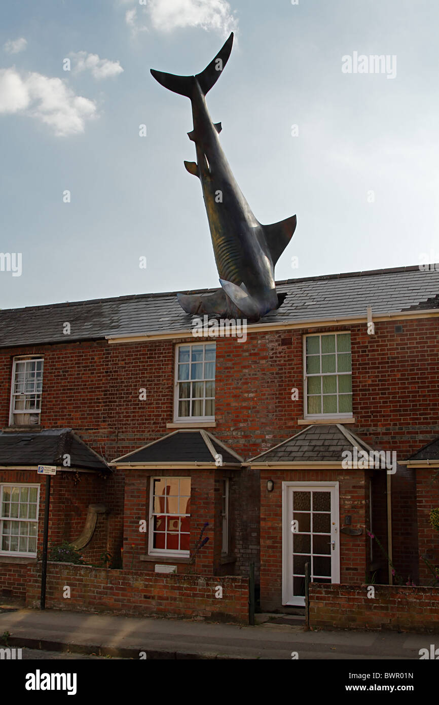 Shark house Oxford roof surreal - Stock Image