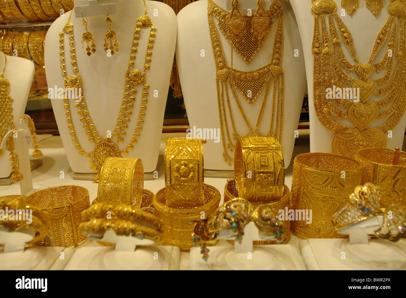 emirates dubai east united photo gold souq uae middle arab asia stock city jewelry