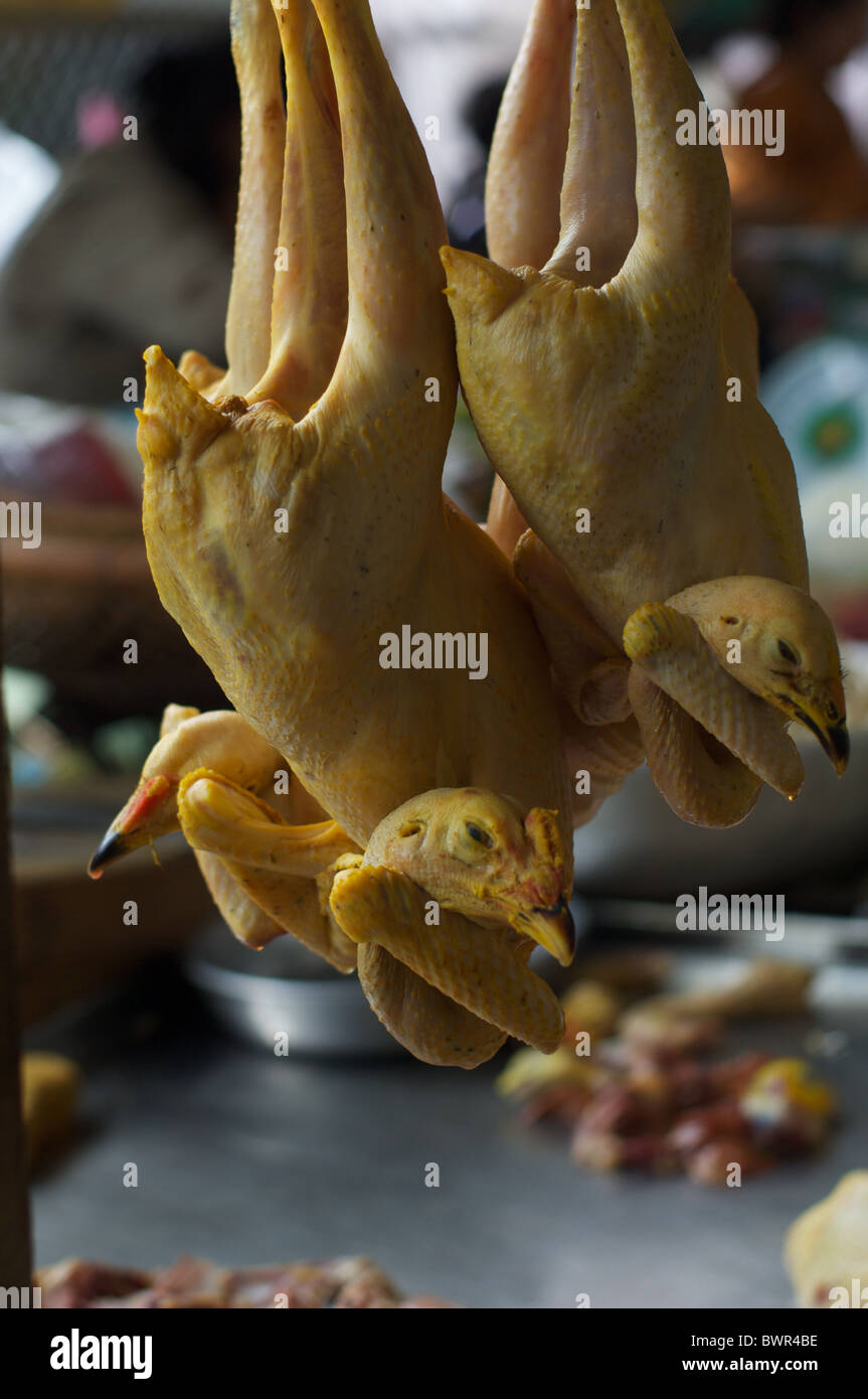 Poultry offered for sale in Phnom Penh's Central market. - Stock Image