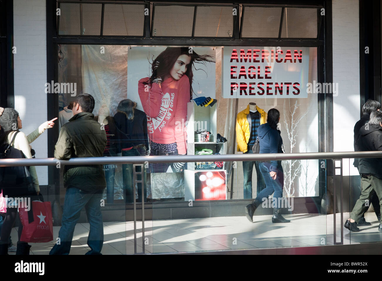 e6ece29555 Shoppers at the Queens Center Mall in the borough of Queens in New York  over the