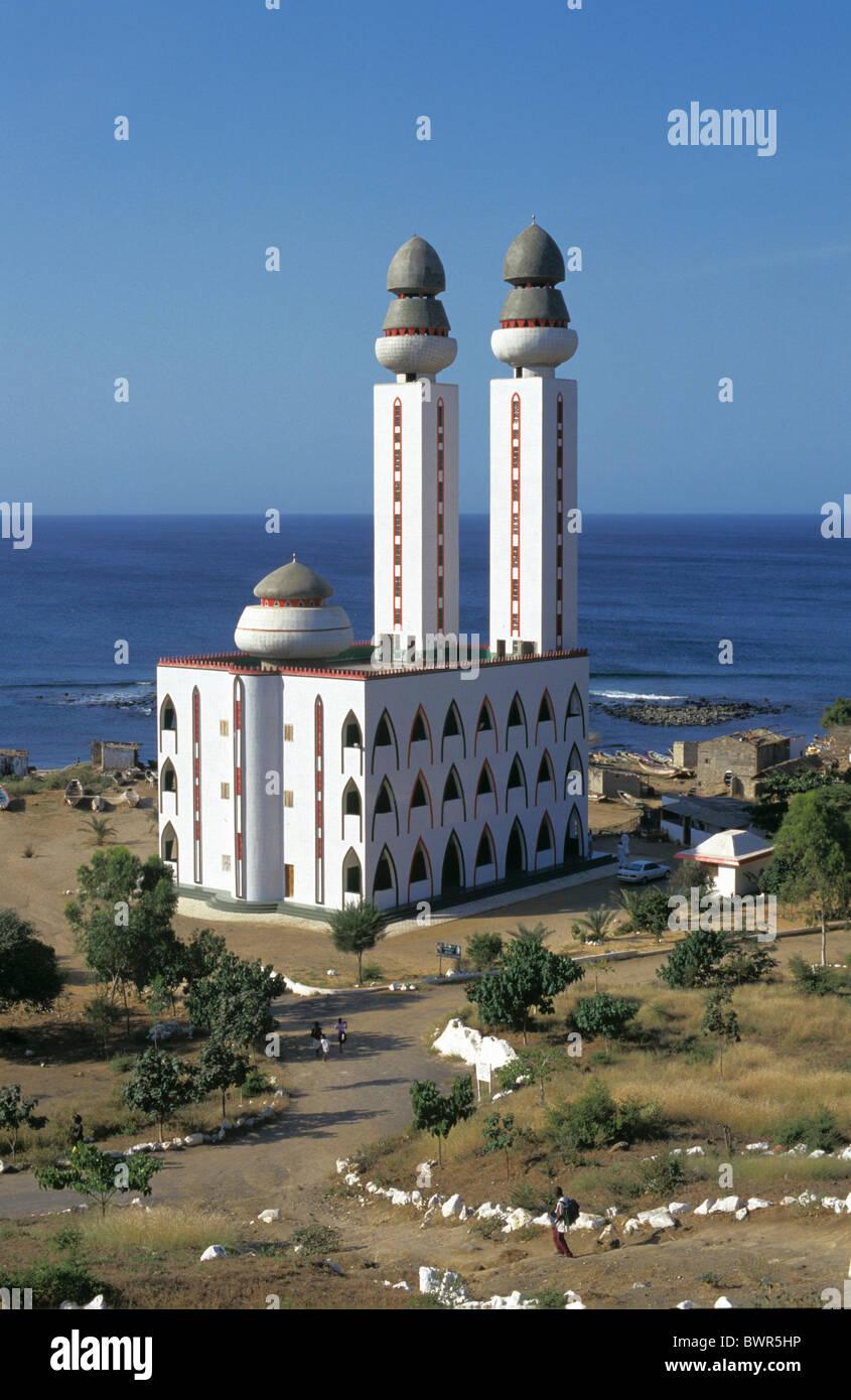 Senegal Dakar city mosque sea Ouakam African town Dakar modern Stock