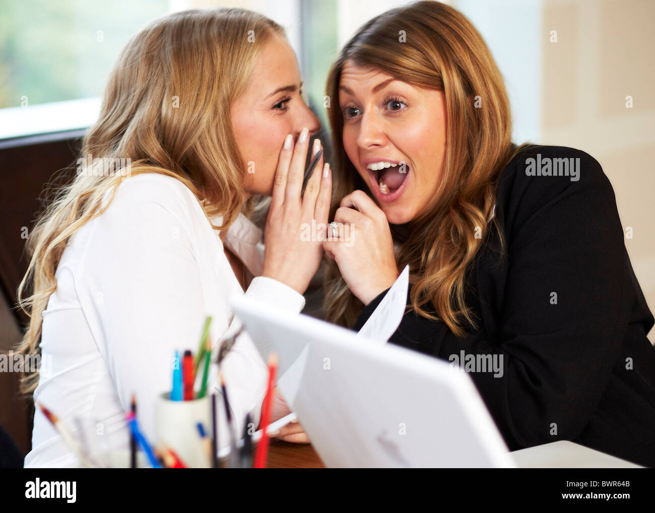 Girls in office - Stock Image