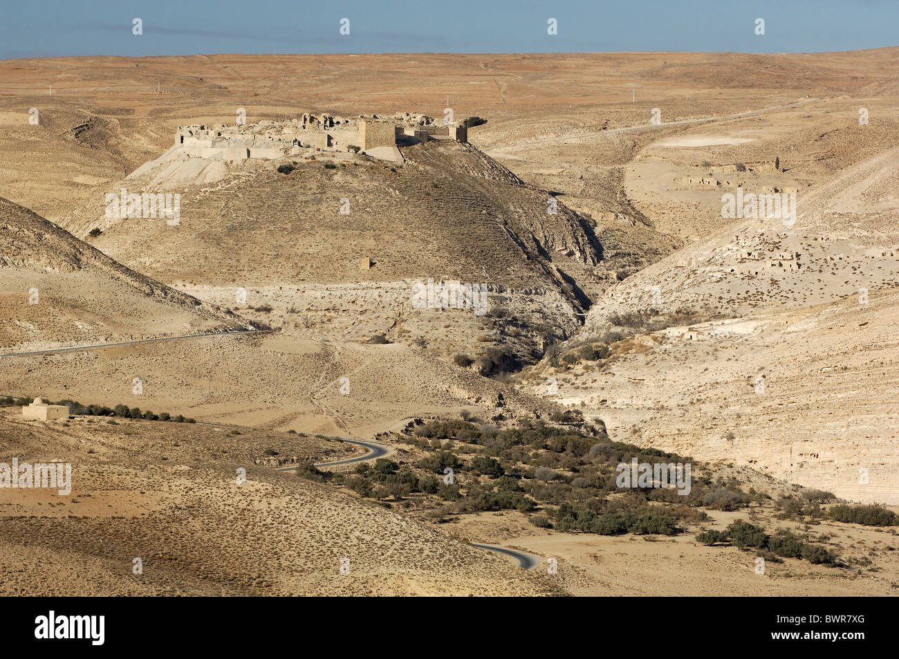 Jordan Montreal Crusader castle King Highway Middle East culture historic history ancient ruins mediaeval - Stock Image