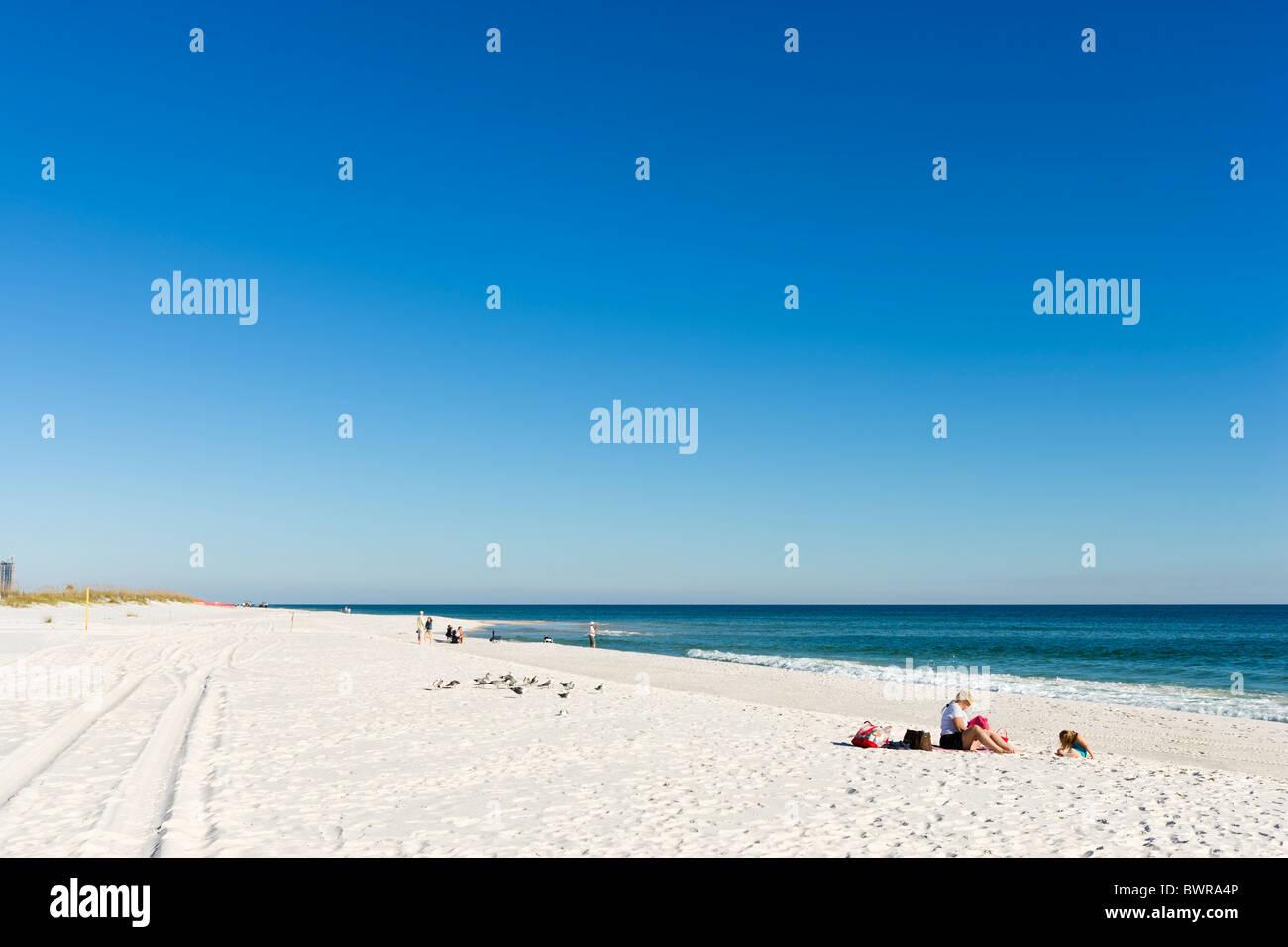 Beach at Gulf State Park, Gulf Shores, Gulf Coast, Alabama, USA Stock Photo