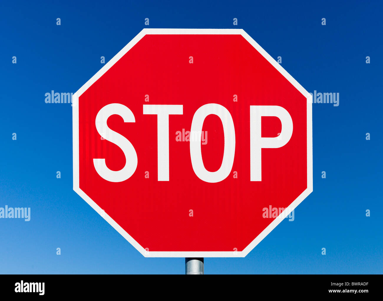 Stop sign, Florida, USA - Stock Image