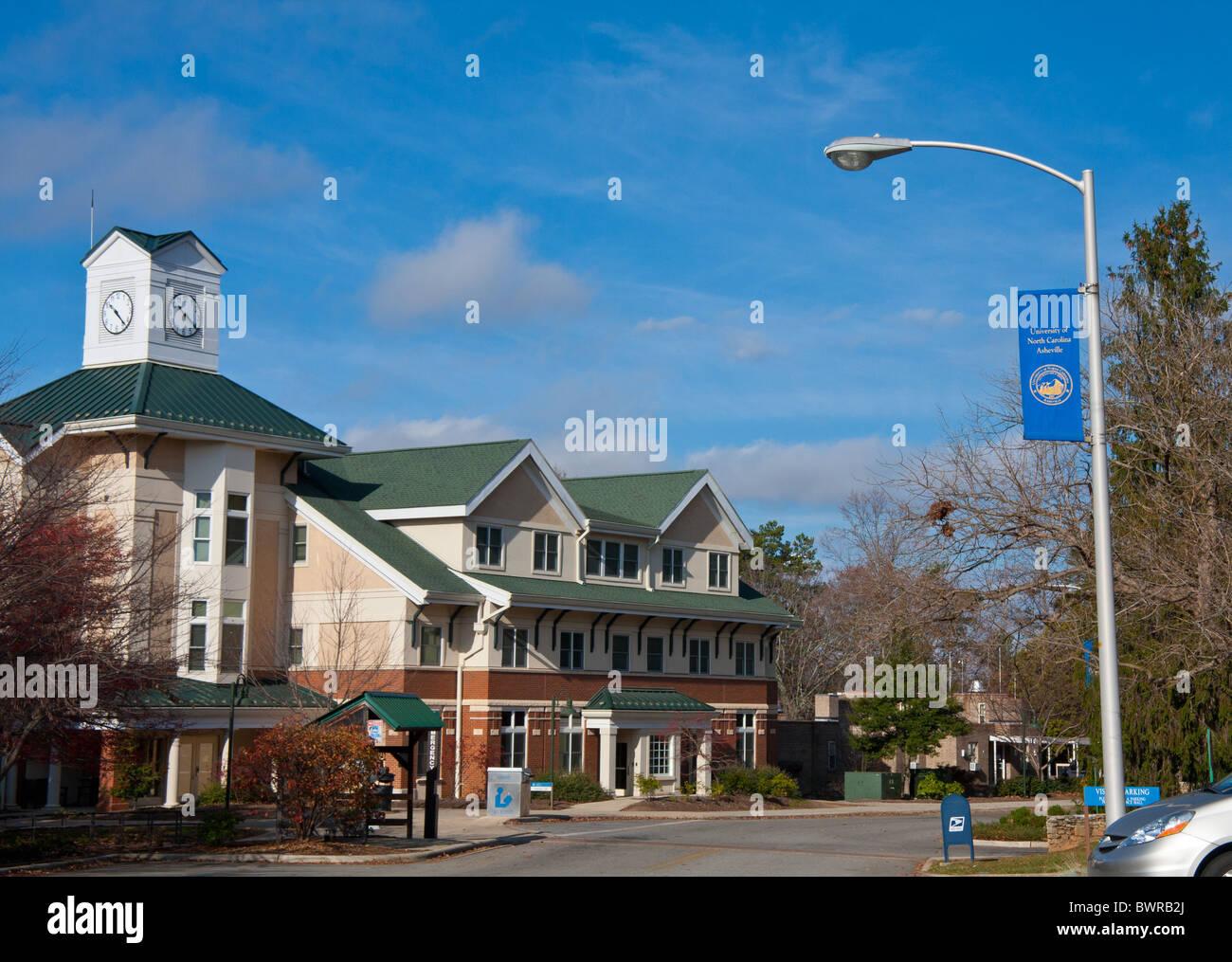 University of North Carolina Asheville campus Stock Photo