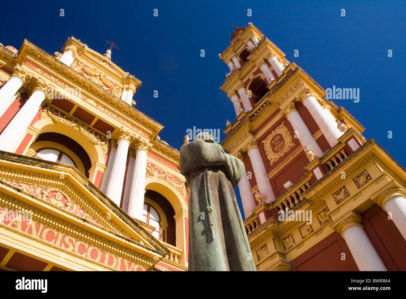 argentina south america salta city san francisco church saint