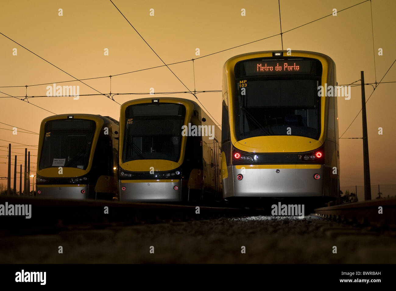 Train Flexity Swift from Bombardier in Porto, Portugal - Stock Image