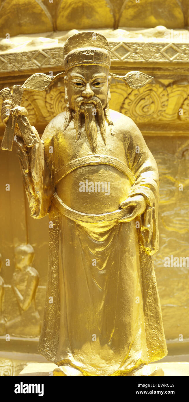 Buddhist gold statue Stock Photo