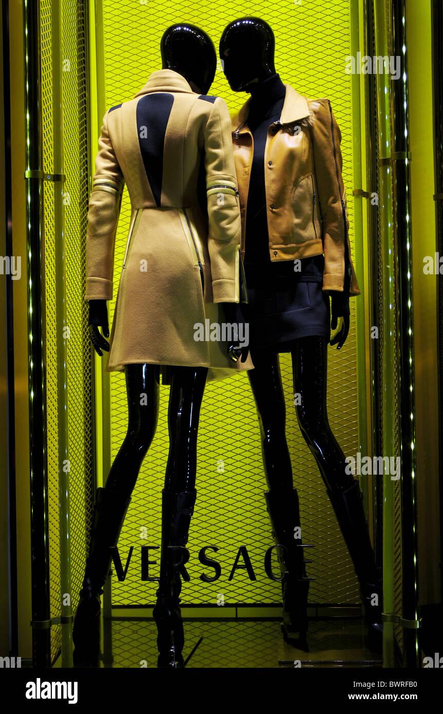 Versace shop Via Montenapoleone Milano Italy - Stock Image
