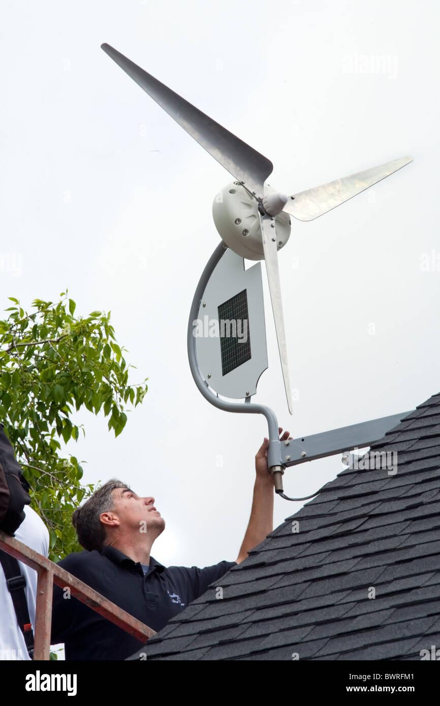 Home Solar Wind Turbines Stock Photos & Home Solar Wind