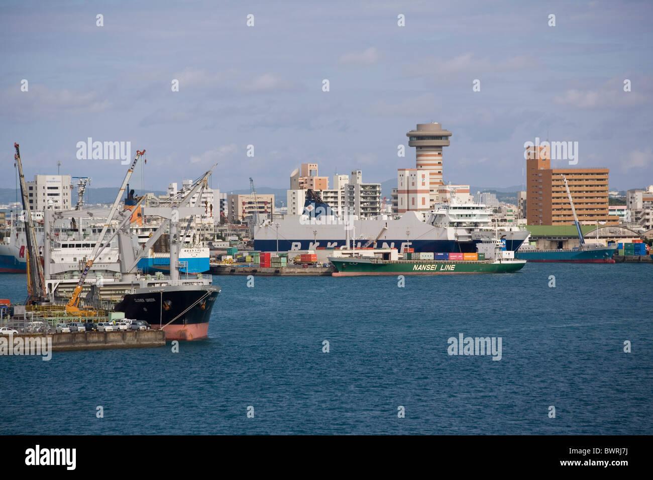 Japan Ryukyu Islands Okinawa Naha Harbour Stock Photo