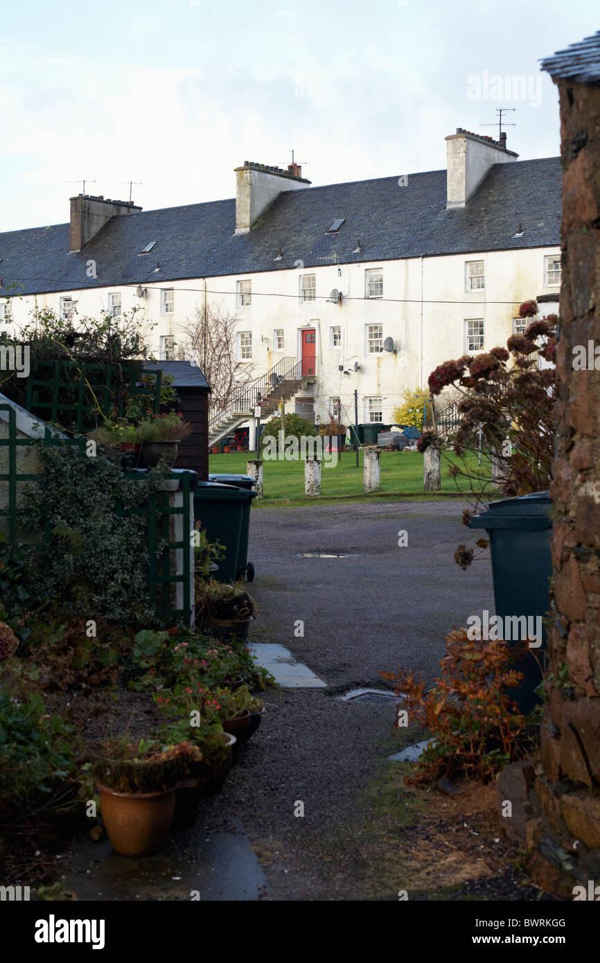 Housing at Inveraray, Scotland - Stock Image