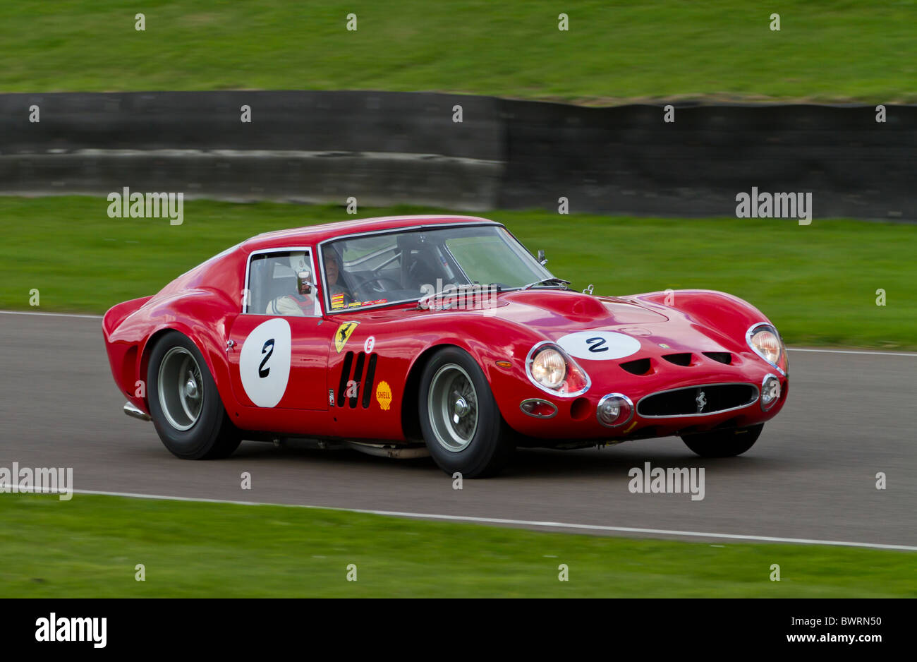 1963 Ferrari 330 GTO during the RAC TT Celebration race. 2010 Goodwood Revival meeting, Sussex, England, UK. - Stock Image