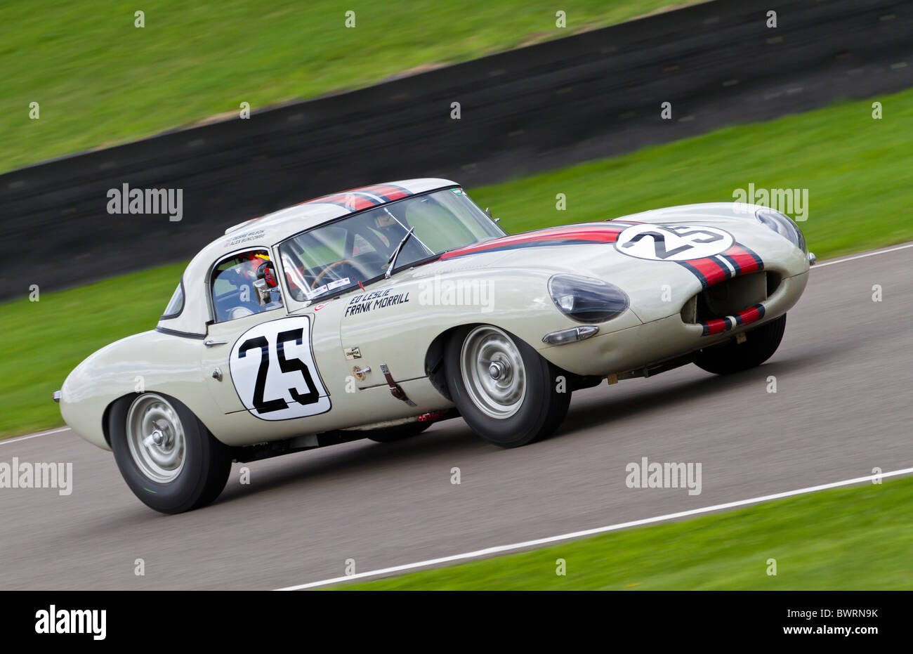 1963 Jaguar E-Type Lightweight during the RAC TT Celebration race at the 2010 Goodwood Revival meeting, Sussex, - Stock Image