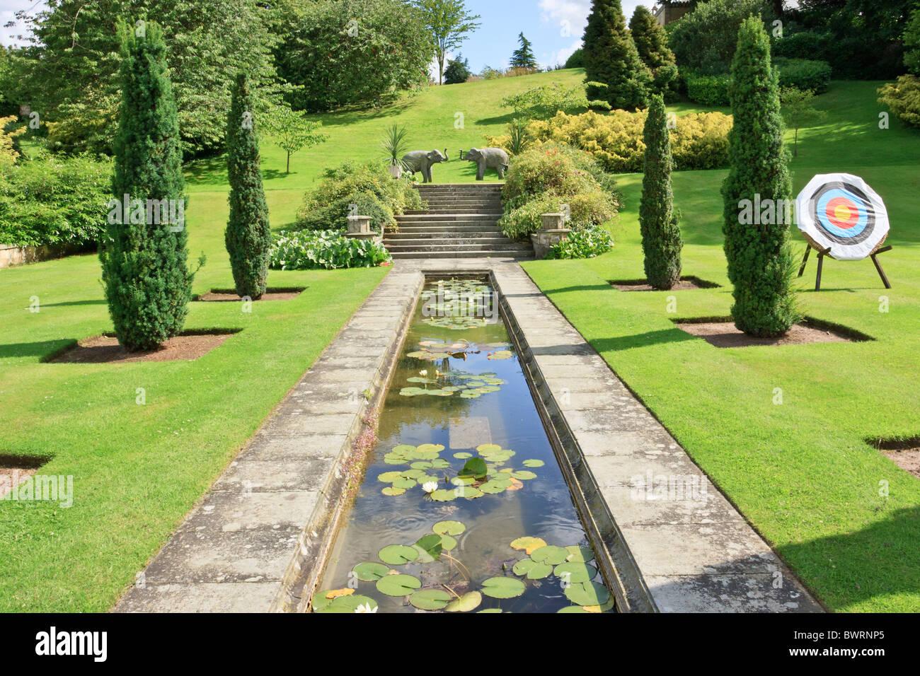Gardens at Sezincote House - Stock Image